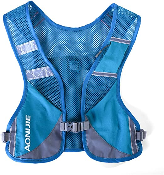 Mochila/chaleco Aonijie de hidratación, ligera, ideal para senderismo, maratón, escalada y ciclismo, azul: Amazon.es: Deportes y aire libre