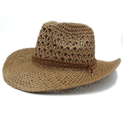 Peng sounded Sombrero Floppy Playa De Verano Mujer Hombre Verano Toquilla Paja Sombrero De Vaquero para Caballero Panamá Jazz Sombreros Padrino Sombrero Gorra Mujer Playa Sun Hat: Hogar