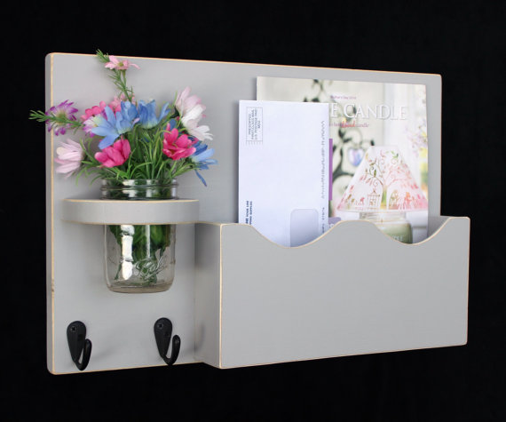 Mail Organizer Mail Holder Letter Holder Mail by LegacyStudio