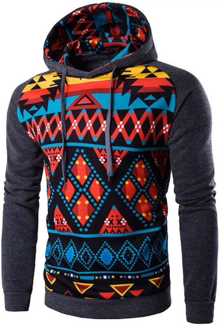 Jeansian Herren Casual Ethnic Style Hooded Pullover Hoody Hoodies Sweatshirt Sports Top 88F5