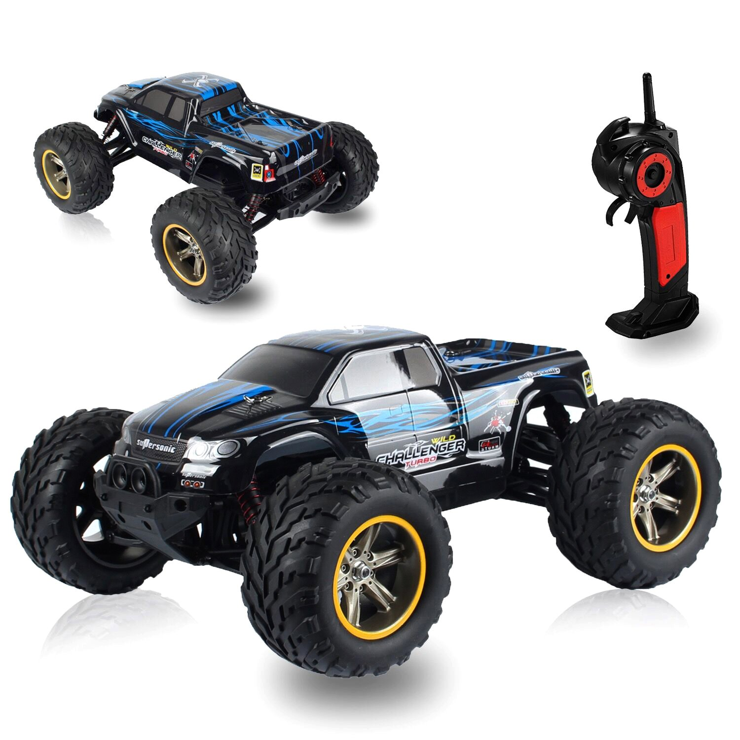 AMOSTING S911 33MPH 2 4GHz 2WD f Road Waterproof Monster RC Truck 1 12
