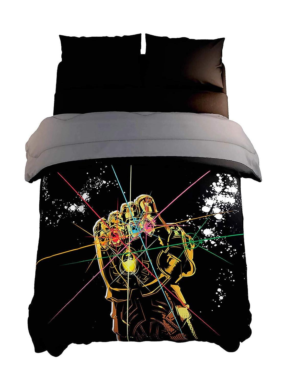 Marvel アベンジャーズ インフィニティ ウォー インフィニティ ガントレット フル/クイーン 掛け布団 B07KR81FQQ