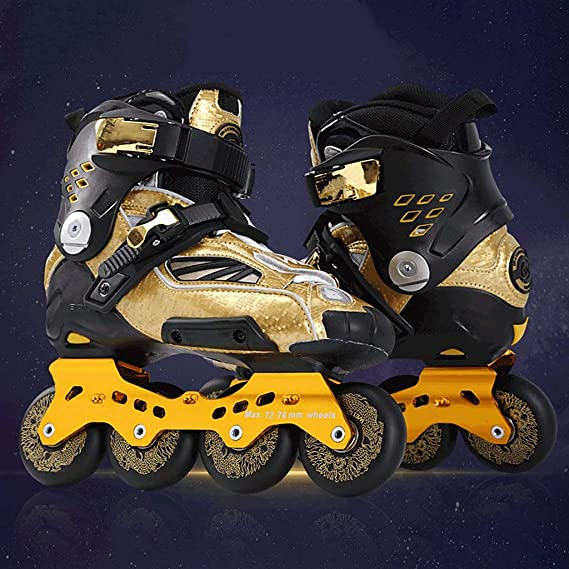 Amazon.com: Women and Men Recreational Rollerblades,adolescente Adult Beginner Womens Rollerblades Gold Color (Color : Gold, Size : 39 EU): Home & Kitchen