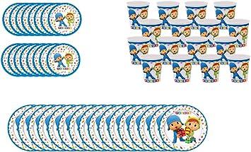 ALMACENESADAN 2316; Pack Desechables Fiesta o cumpleaños ...