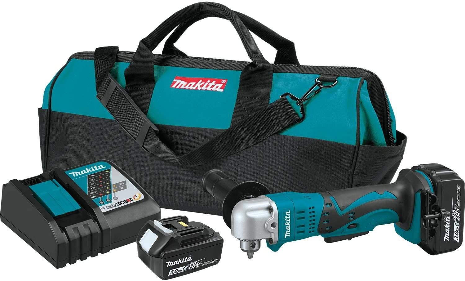 Makita Xad01 18v Lxt Lithium Ion Cordless 3 8 Angle Drill Kit 3 0ah Amazon Com
