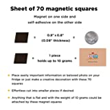 Magnetic Squares - 1 Tape Flexible Magnetic Sheet