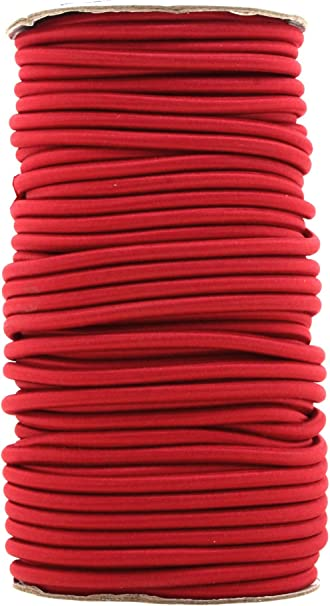Red Bungee Cord By The Foot Elastic Bungee Rope Shock Cord For