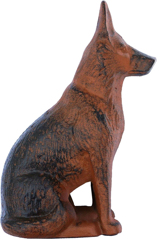 Lulu Decor, Cast Iron Dog Statue Dog Stopper, Weighs 4.2 lbs (German Shepard)