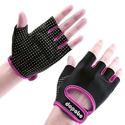 Dopobo - Guantes de gel para mujer, guantes de entrenamiento para el gimnasio, para