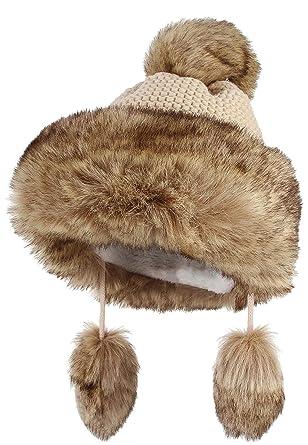 kosten charm Heiß-Verkauf am neuesten bieten eine große Auswahl an DEMU Damen Fellmütze Mongolische Mütze Bommel Wintermütze ...