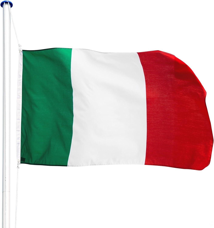 TecTake Mástil para Bandera 6,25 m con Bandera y Cuerda Palo asta Aluminio - Varios Modelos - (Italia | no. 402849): Amazon.es: Hogar