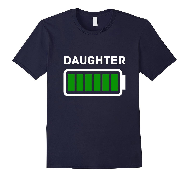 MOMMY Daughter Full Battery Energy T-Shirt-RT