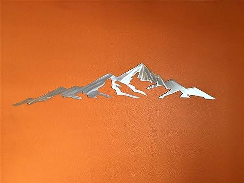 Mountains Are Calling Metal Wall Art Mount Elbert Colorado Fourteener Gift Artwork Rustic 14er Home Decor Handmade