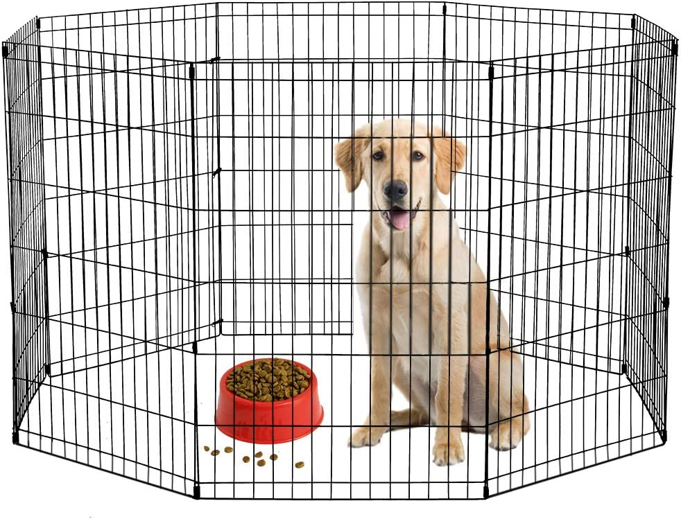 BestPet Metal Wire Playpen, Pink