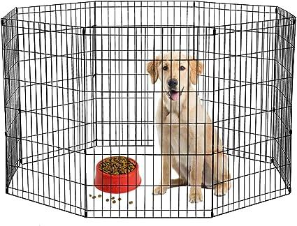"""24/"""" 30/"""" 36/"""" 42/"""" 48/"""" 2 Door Wire Metal Folding Pet Dog Cage Crate Kennel Playpen"""