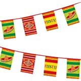 Mexican Bunting Fiesta Hanging Party Decoration Birthday Sombrero Chilli Carnival Mexico