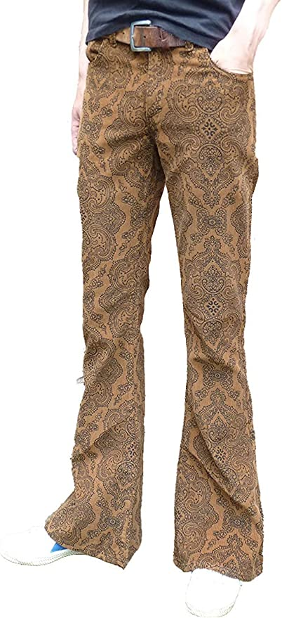 Hippie Pants, Jeans, Bell Bottoms, Palazzo, Yoga Fuzzdandy Flares Bell Bottoms Paisley Trousers Corduroy Hippie Mod Indie Flared Retro Vintage Pants Tan Brown £36.50 AT vintagedancer.com