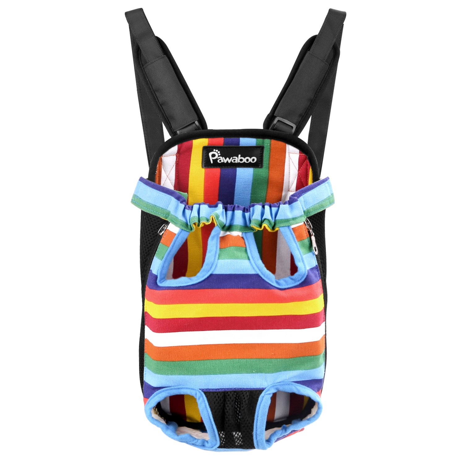 Pet Bag Pawaboo medium size small dog cat 2WAY hug backpack sling bag piggyback ride string pet carry for (M Multi-color)