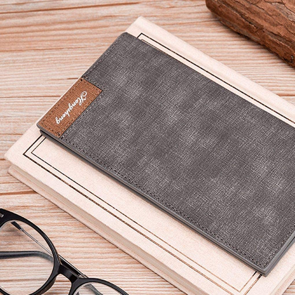 Lorsoul daffaires /à Long Ultra-Mince Bifold Wallet Moraillon Bourse Multi-Fonctionnelle R/étro Carte de cr/édit Porte-Ch/équier dembrayage