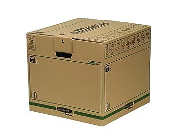 Bankers Box 62053 - Caja de transporte y mudanza, grande, color beige: Amazon.es: Oficina y papelería
