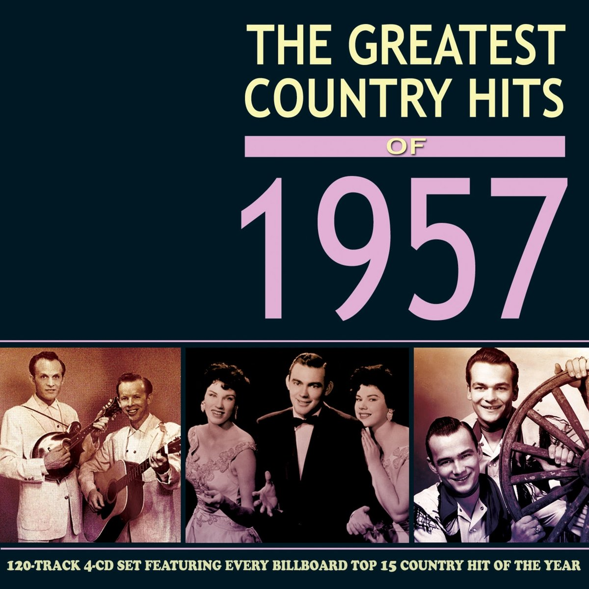 CD : VARIOUS ARTISTS - Greatest Country Hits Of 1957 / Various (4PC)