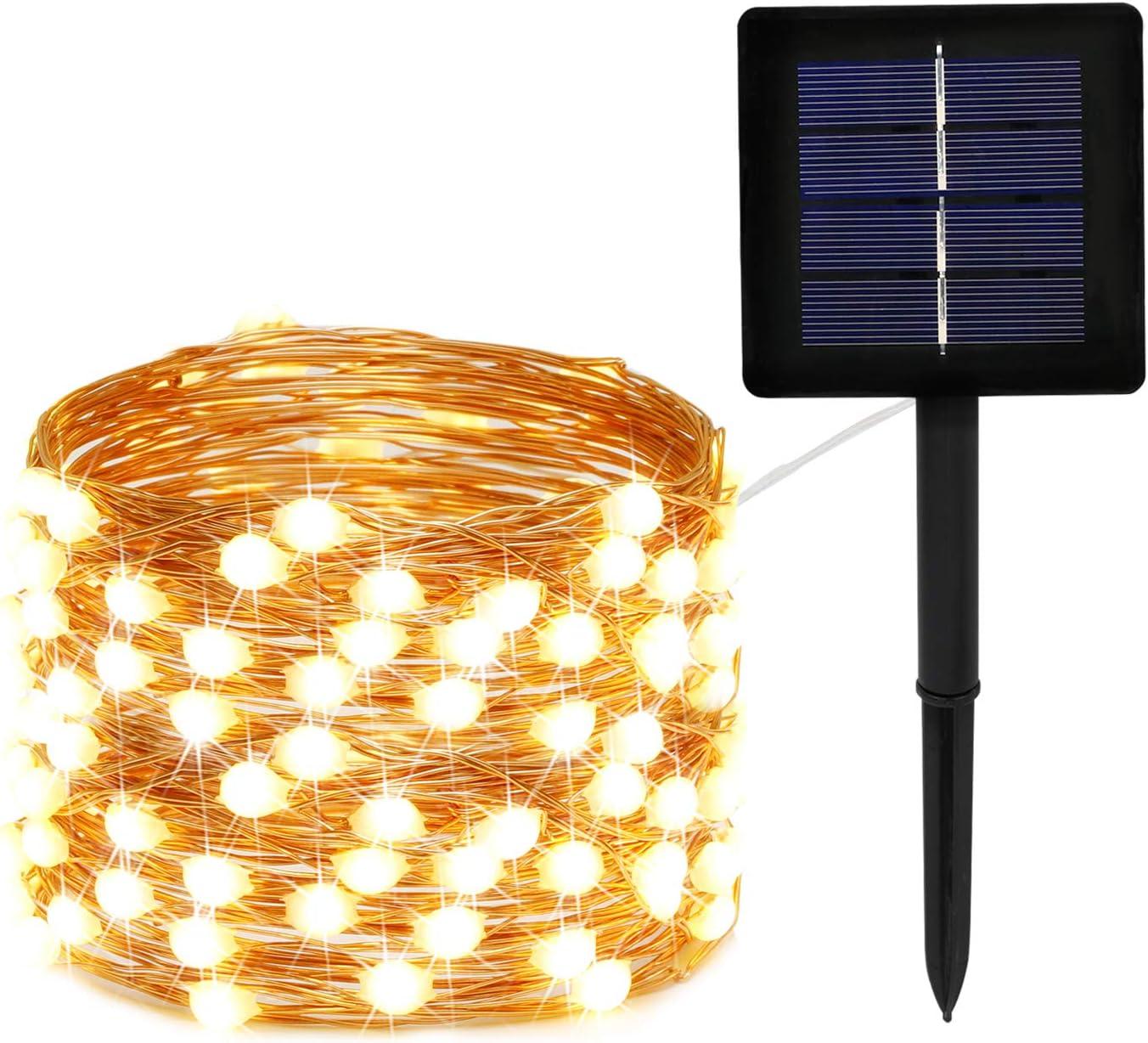 72ft 200LED Solar Powered Rope Tube String Fairy Lights Outdoor Garden Xmas Lamp