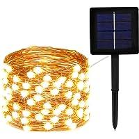 Solar String Lights,Updated 100 LED 33 feet 8 Modes Solar Fairy Lights,Waterproof for Yard,Christmas Tree,Garden…