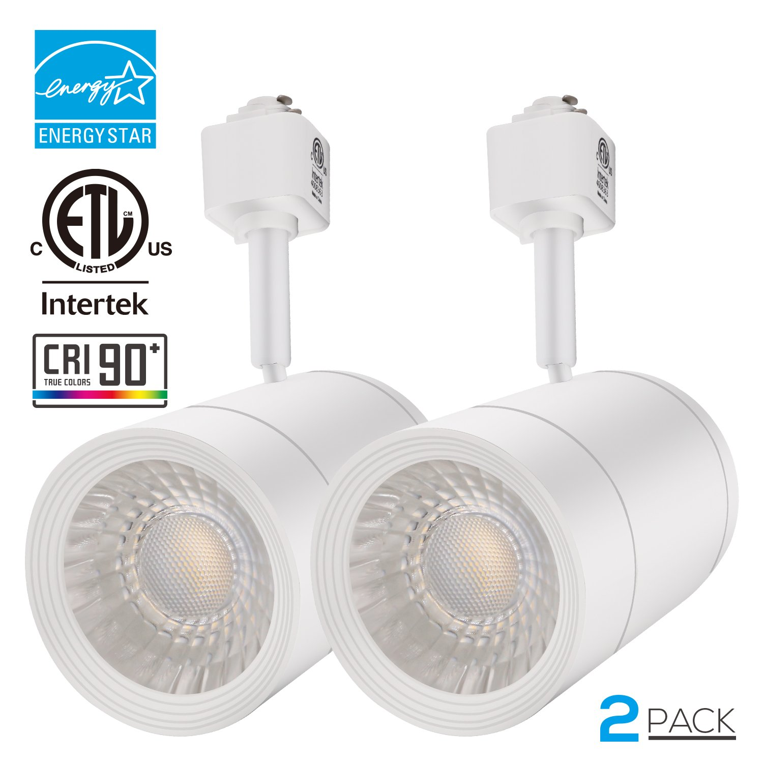 Best rated in track lighting heads helpful customer reviews integrated cri90 led track light head dimmable 38 spotlight track light 1200lm energy star etl listed for accent task wall art exhibition lighting aloadofball Images
