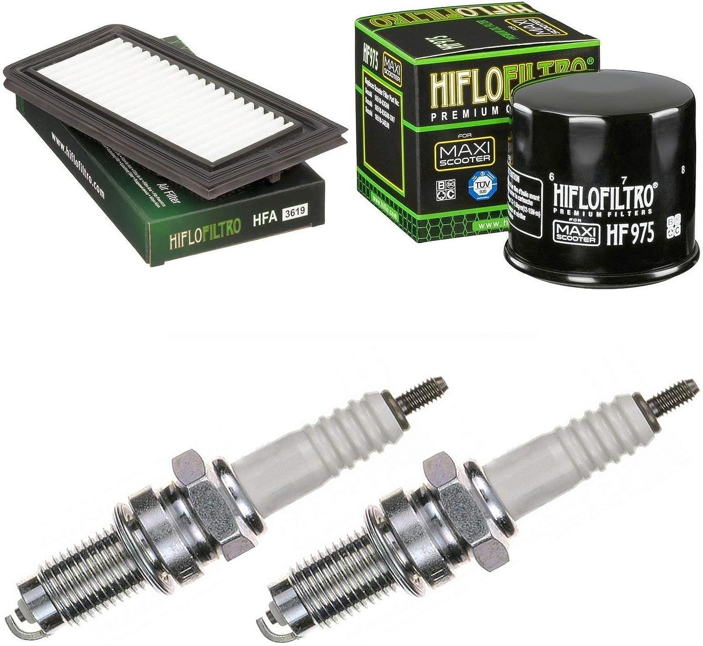 Pamoto Air Filter Oil Filter Spark Plug AN 650 A Burgman Executive ABS 2004-2012 Service Kit
