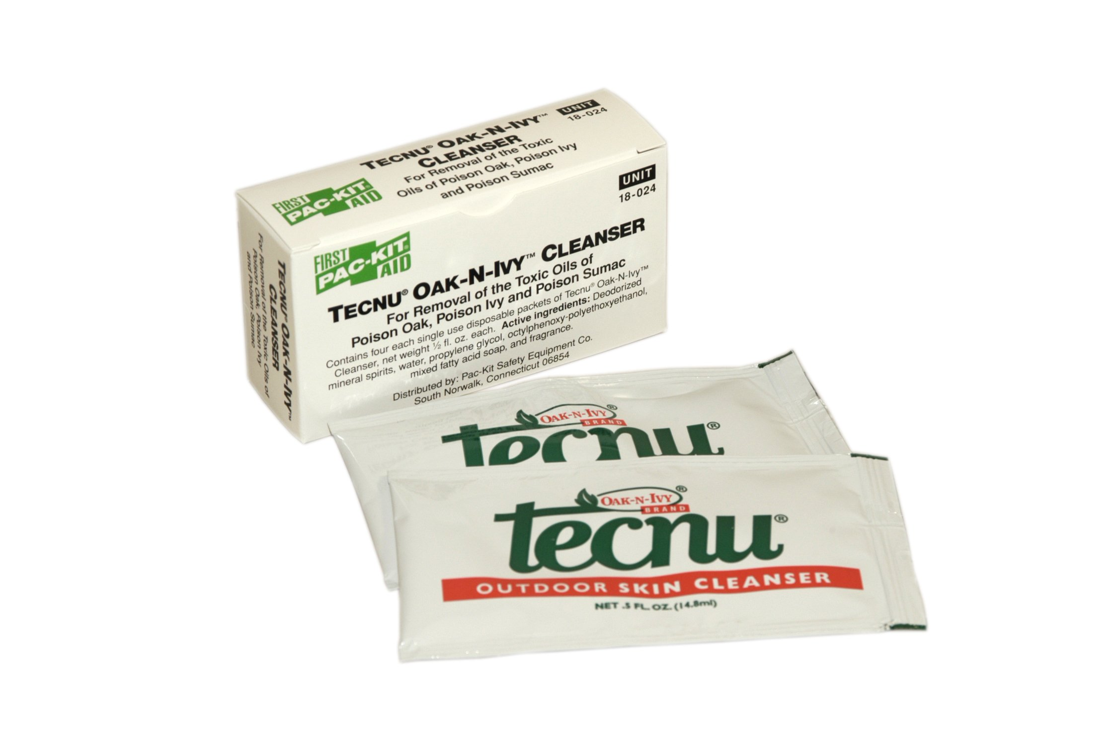 Pac-Kit by First Aid Only 18-024 Tecnu Oak'N'Ivy Cleanser Packet (Box of 4)