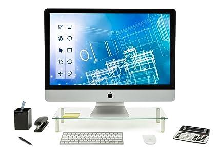 Cristal Elevador de Monitor de Soporte Soporte para portátil, ergonómico