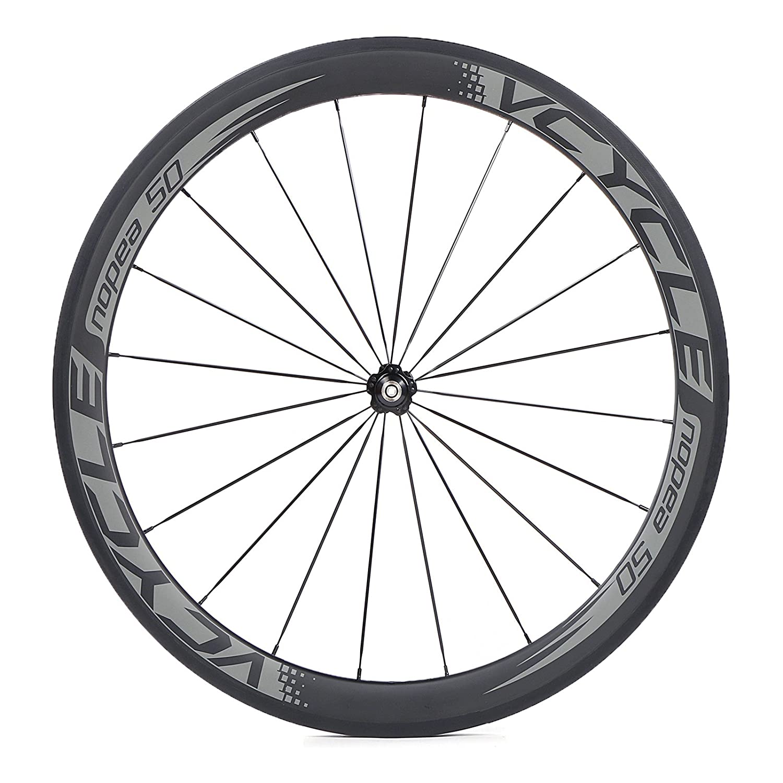 VCYCLE Nopea 700C Carbono Bicicleta Ruedas 50mm Tubular 23mm Ancho UD Mate Shimano o Sram 8/9/10/11 Velocidad: Amazon.es: Deportes y aire libre