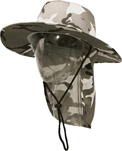 City Camouflage Sun Cap Ear Flap Neck Cover hat  Sun Protection Baseball cap