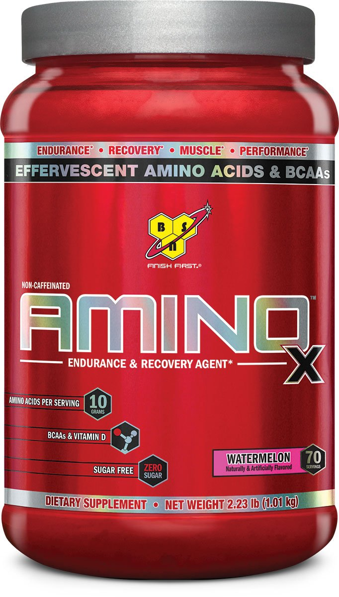 BSN Amino X Post Workout Muscle Recovery & Endurance Powder with 10 Grams of Amino Acids Per Serving, Flavor: Watermelon, 70 Servings