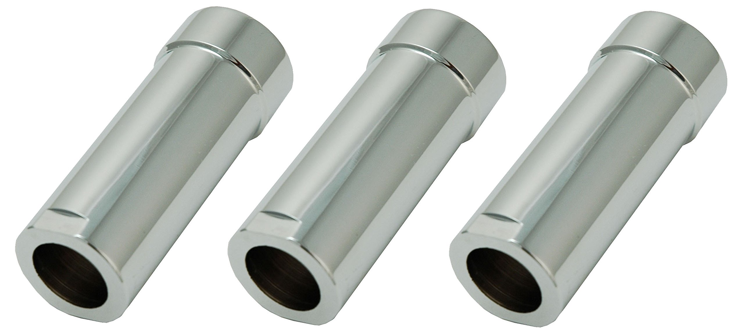 Shower Faucet Sleeves (3 Pieces) Fit Delta or Peerless 2- Or 3-handle Shower Valve, Chrome Plated - By Plumb USA