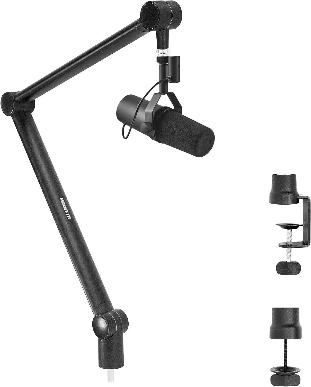 Flessibile Desktop Asta del Microfono Pieghevole Supporto Accessori Regolabile Mic Morsetto Clip Holder Mount Nero for la tavola Karaoke Microfoni Microfono da Tavolo