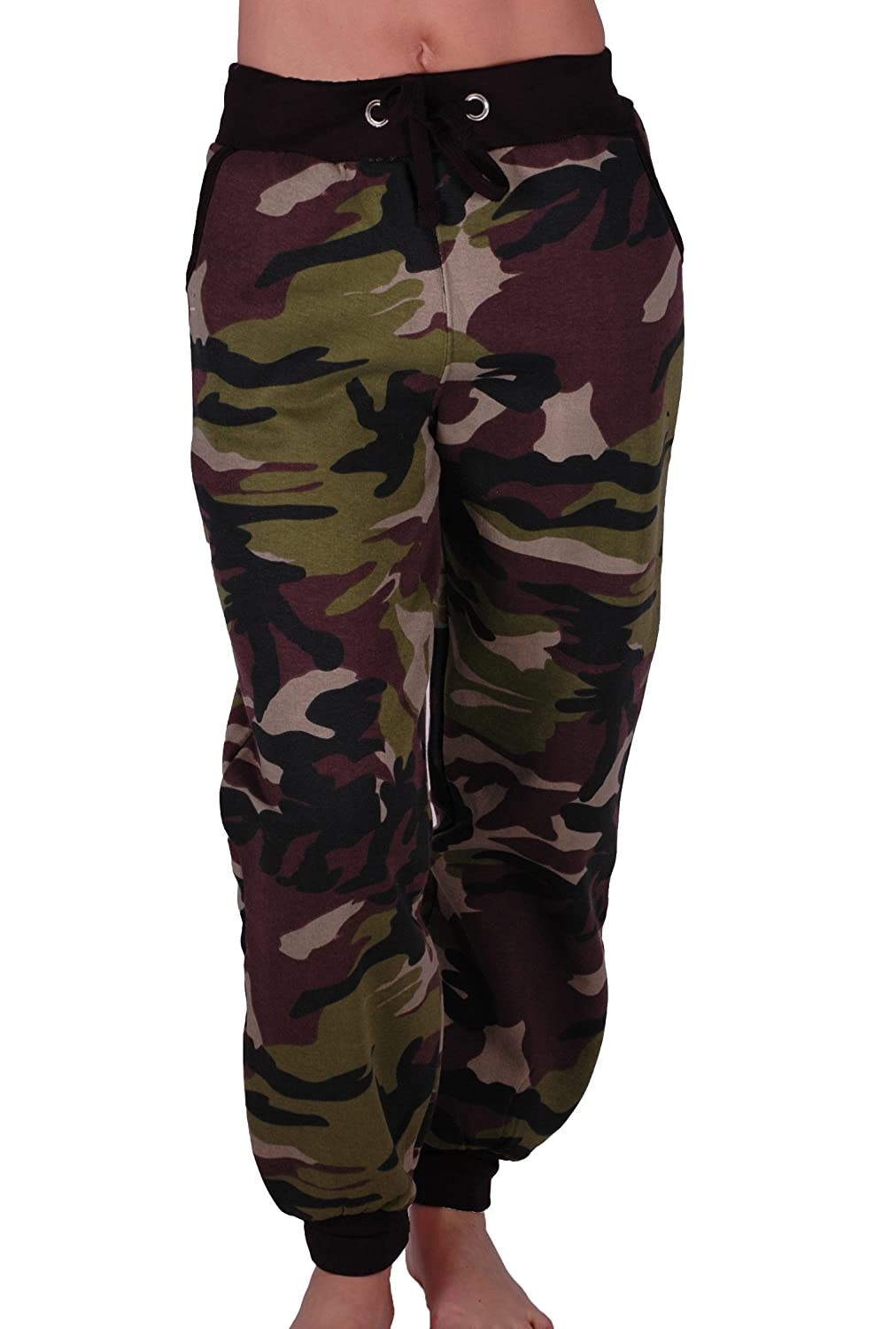 Eyecatch - Womens Casual Military Army Camouflage Sports Gym Joggers Jogging Ladies Tracksuit Bottoms