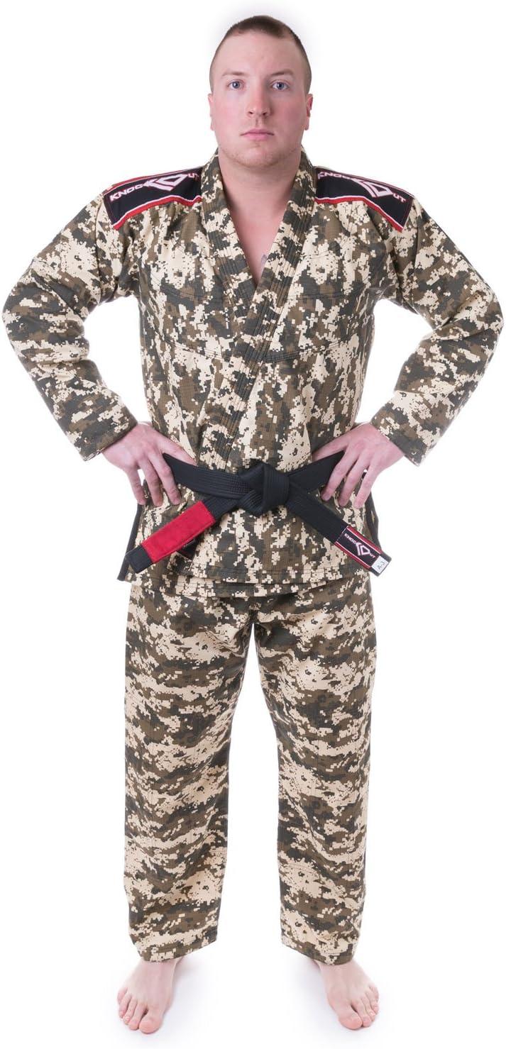 KoスポーツギアBJJ Gi Uniform Set – 緑 Camo – Summer Rip Stop – for BJJ、Grappling、総合格闘技 – 着物とパンツ  A2
