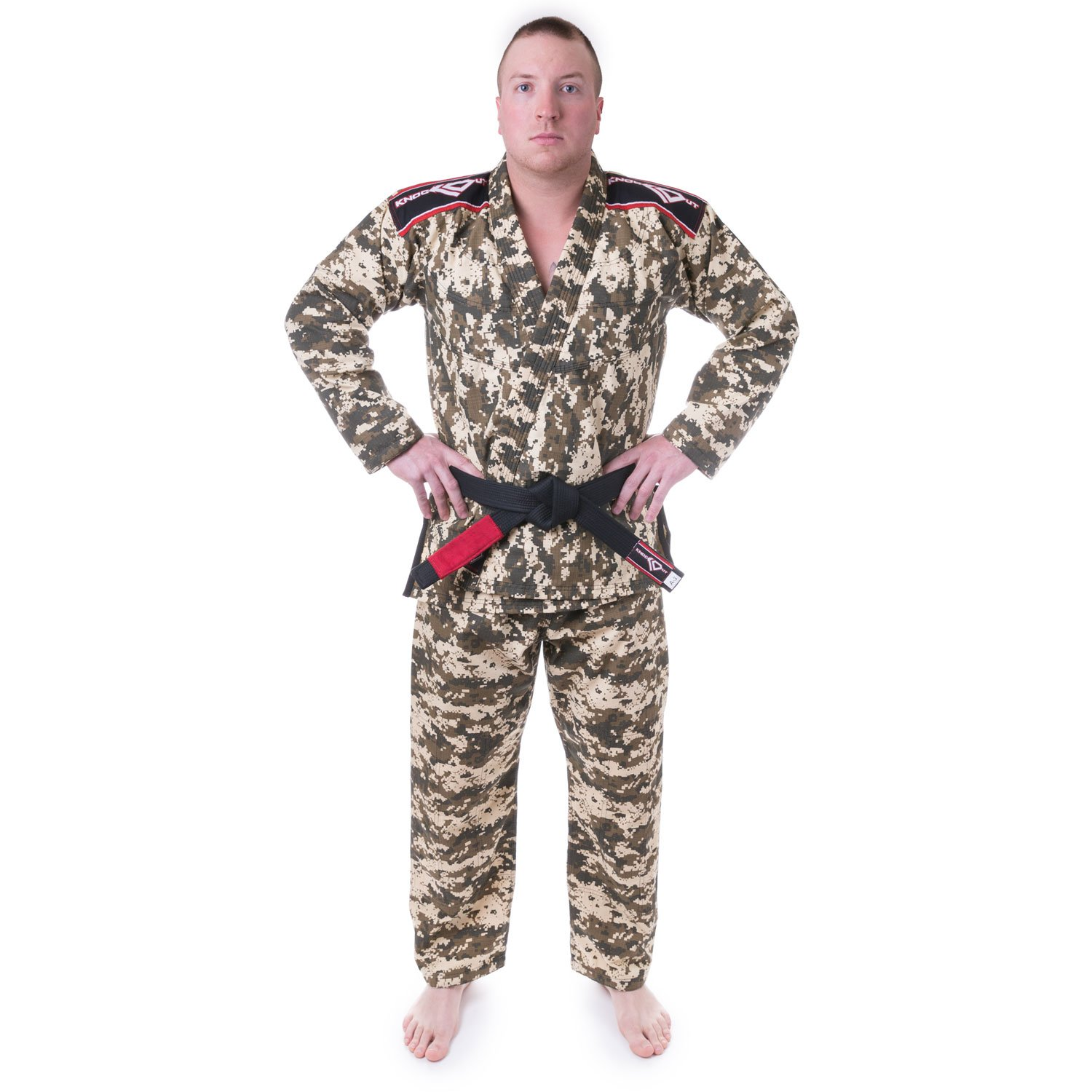 KO Sports Gear BJJ Gi Uniform Set - Green Camo - Summer Rip Stop - For Brazilian Jiu-jitsu, Grappling, and Mixed Martial Arts - Kimono and Pants by KO Sports Gear