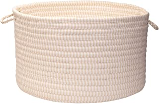 product image for Colonial Mills Solid Ticking Storage Basket, 14 by 10-Inch, Canvas