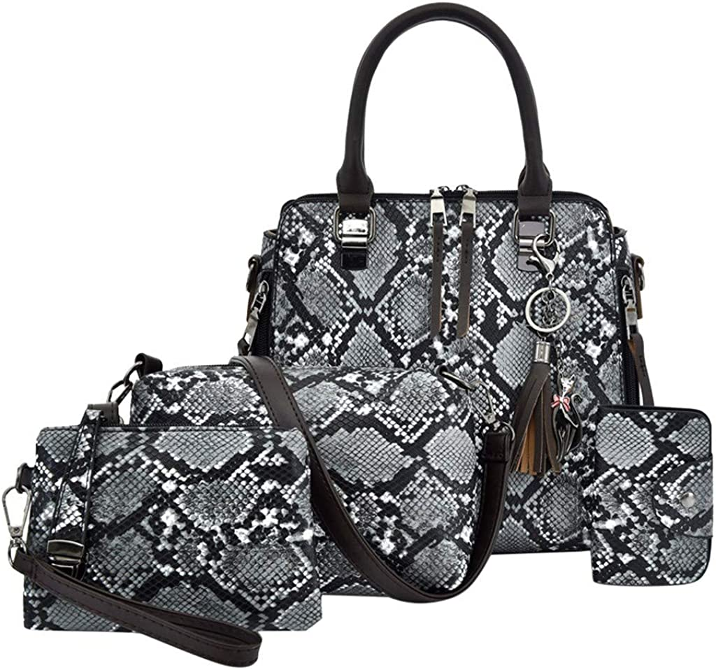 PINCNEL Handbags for Women Fashion Tote Bag Shoulder Bag Top Handle Satchel Purse Set 3pcs