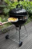 """PizzaQue PC7001 Deluxe Kettle Grill Pizza Kit, 18""""/22.5"""", Silver"""