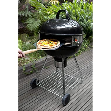 PizzaQue PC7001 Deluxe Kettle Grill Pizza Kit, 18 /22.5 , Silver