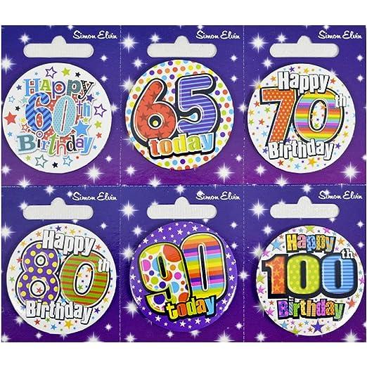 CREATIVE Insignia 6 Tarjeta del feliz cumpleaños 60/65/7 ...