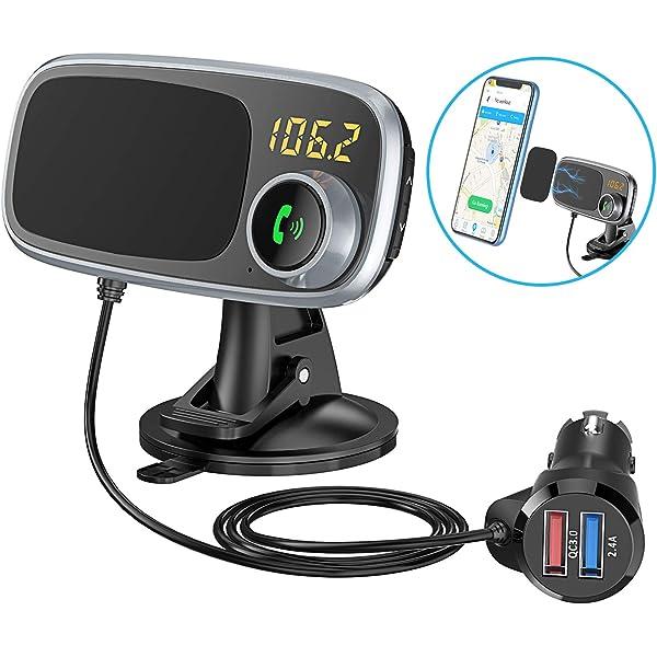 Amazon.com: Transmisor FM inalámbrico Bluetooth para coche ...