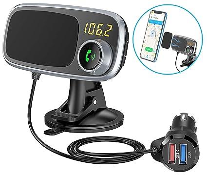 Amazon.com: Comsoon - Transmisor FM Bluetooth y soporte ...