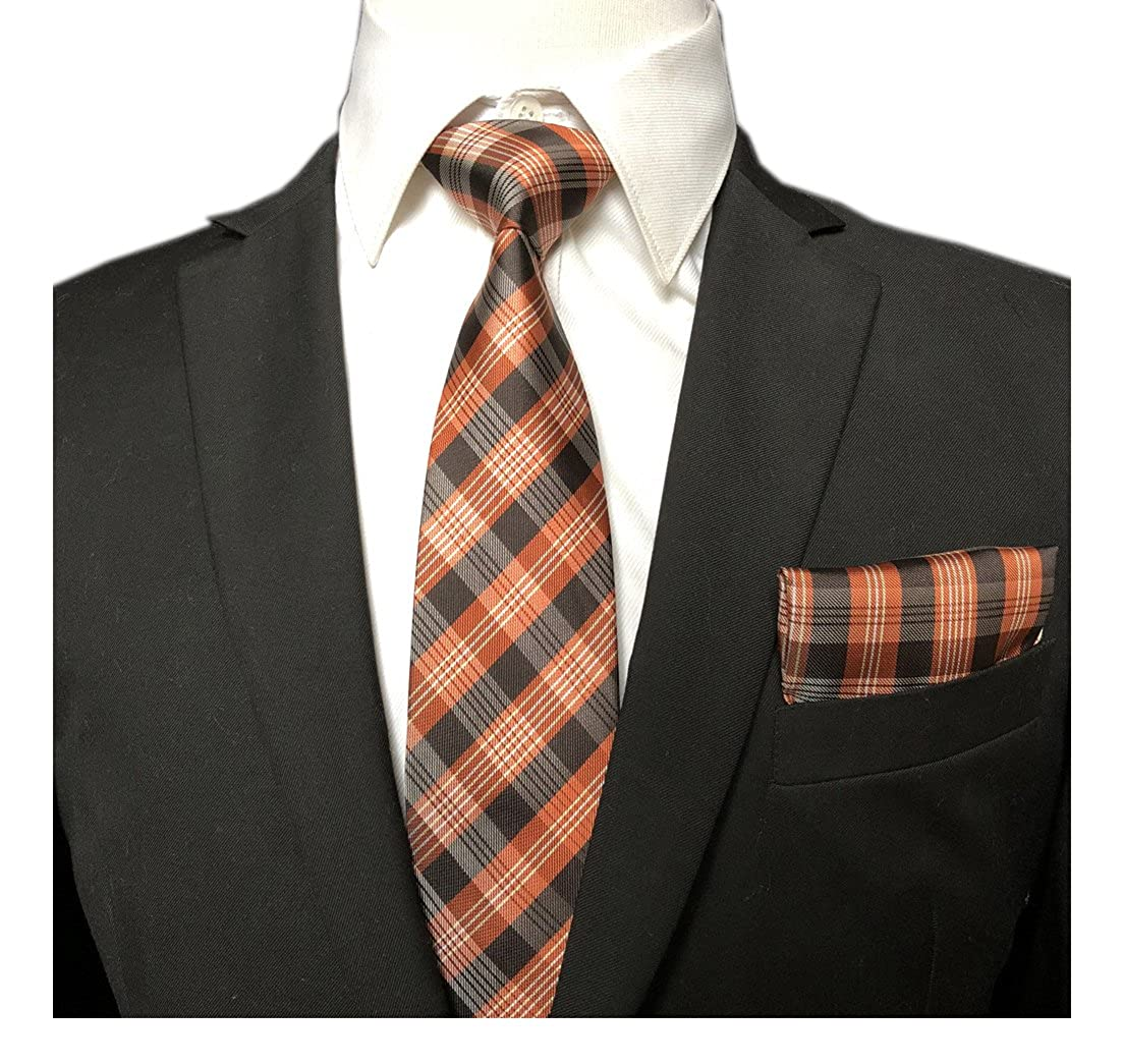 """Men's Accessories Clothes, Shoes & Accessories Tootal Men's Tie Brown Striped Patterned Polyester 3"""" Width 57"""" Length"""