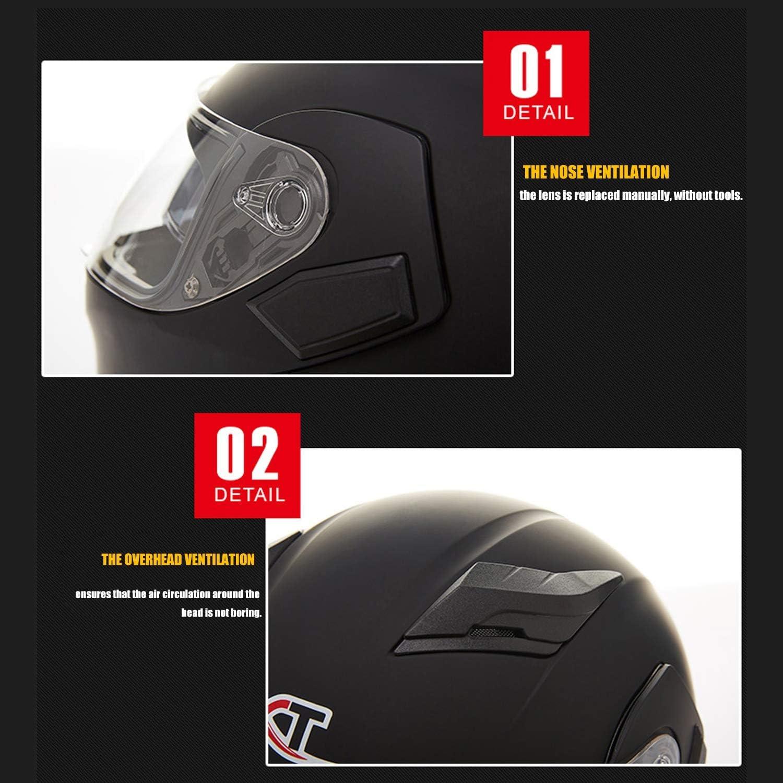 Anti-Fog Double Lens Jethelm Lokomotive Full Cover DOT Zertifiziert Vier Jahreszeiten Helm,Beige,M MMRLee Herren und Damen Motorradhelm