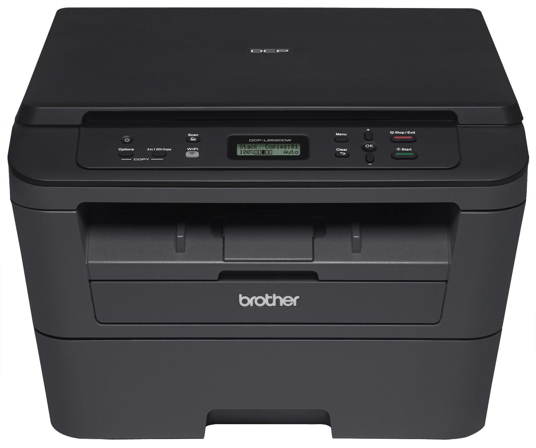 Brother DCPL2520DW Wireless Compact  Multifunction Laser Printer and Copier, Amazon Dash Replenishment Enabled by Brother (Image #1)