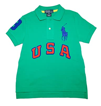 Ralph Lauren niños verde USA Big Pony - Polo para hombre: Amazon ...